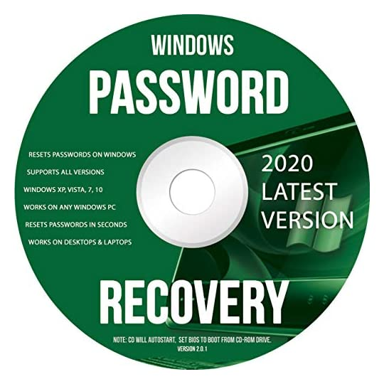 Ralix Windows Password Recovery DVD – Supports All Versions Windows XP, Vista, 7, 10 Resets Passwords in Seconds – 32/64…
