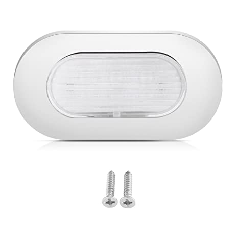 Lámpara de Techo LED, RV 12V Luz de Techo Marina Luz Interior del Techo Ajustable Acero Inoxidable, Adecuado para Barcos, Yates y Caravanas, ...