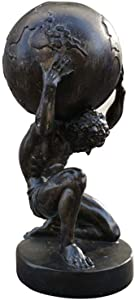 Ybzx Atlas Sculpture Statue, Hercules Statue Figurine Retro Resin Crafts Mythical Model Figurine Figurine
