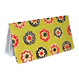 Happy Lime Flower Checkbook Cover