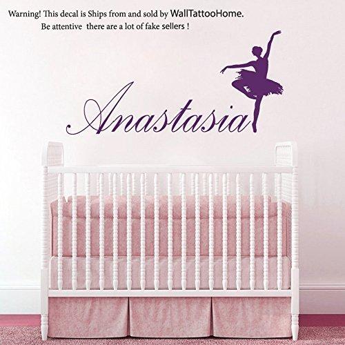 Art Ballerina Wall Decals Custom Personalized Name Decal Ballet Vinyl Sticker Dance Studio Girl Bedroom Nursery Baby Room Home Decor -