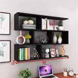 #9: The wall built-in shelf Wine Rack creative wall mount wall mount restaurant ceiling cabinets living room wall cabinets modern minimalist wall cabinets bookshelves ,801525cm, black