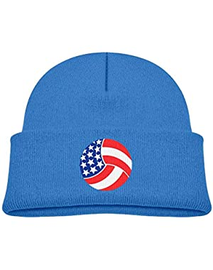 Warm USA Volleyball Printed Toddlers Baby Winter Hat Beanie