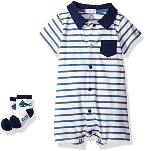 ABSORBA Baby Boys' Romper and Sock Set