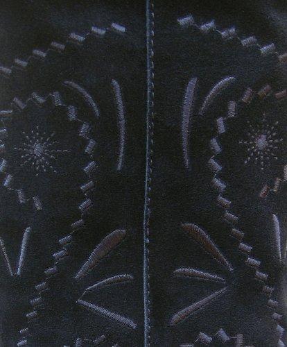 Skinn Blue Semsket Banana Svart Kvinners Støvler tqq4Sgaw