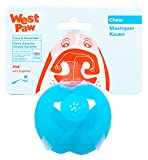 West Paw Zogoflex Jive Durable Nearly Indestructible Dog Ball Chew-Fetch-Play Dog Toy, 100% Guaranteed Tough, It Floats!, Made in USA, Large 3-1/4-Inch, Aqua