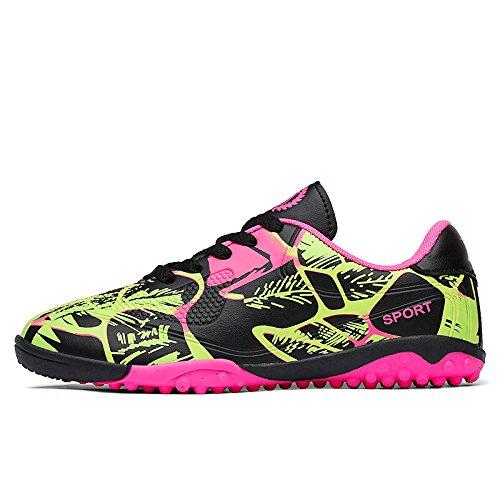 Xing Lin Botas De Fútbol Zapatillas De Entrenamiento Interior Y Exterior Clavos Los Zapatos Rotos Los Hijos Varones Estudiantes Masculinos Y Femeninos 163-1 pink