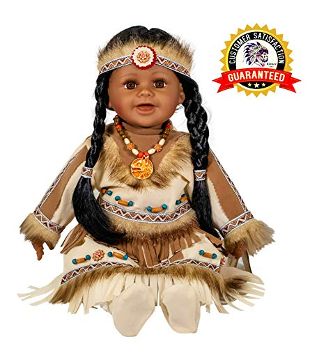"Kinnex Collections 22"" Collectible Native American (Indian) Vinyl Doll - Tara - VM221132"