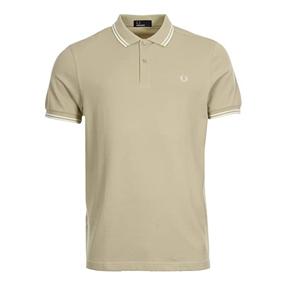 7fee3ff9 Fred Perry M3600 Twin Tipped Polo Pale Flint: Amazon.co.uk: Clothing