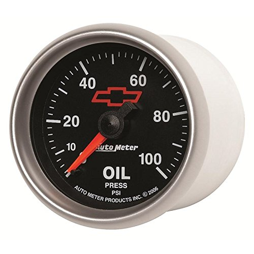 (Auto Meter Sport-Comp Ii Gm 52Mm 0-100 Psi Mechanical Oil Pressure Gauge(3621-00406))