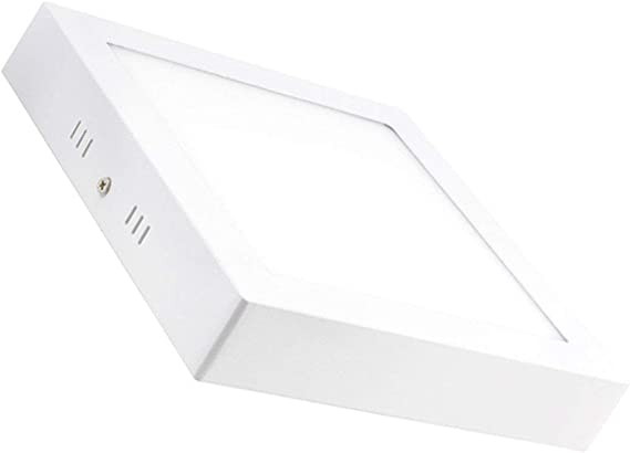 LEDKIA LIGHTING Plafón LED Cuadrado 18W Blanco Cálido 2800K - 3200K: Amazon.es: Iluminación