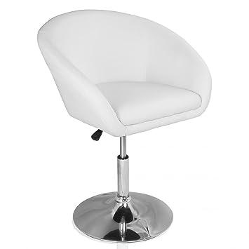 Cocktailsessel weiß  Homelux Lounge-Sessel Clubsessel Kunstleder Höhenverstellbar Weiß ...