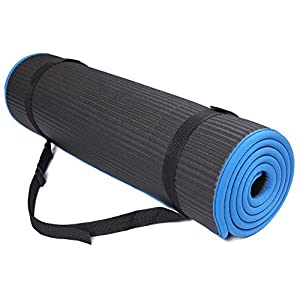 BalanceFrom All-Purpose Extra Thick High Density Anti-Slip Exercise Pilates Yoga Mat with Carrying Strap, (72″ L x 24″ W x 2/5 Inch Thick)