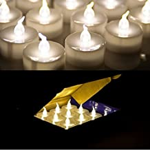 AGPtek®24pack Flameless Tealights Battery (included) Operated Flickering Warm White LED Tea Lights With Timer