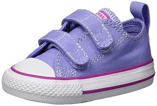 Converse Kids' Chuck Taylor All Star 2V Seasonal Low Top Sneaker, Twilight Pulse/Hyper Magenta, 5 M US Toddler (Converse Toddler Shoes)
