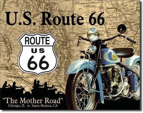 Cartel de chapa Route 66