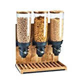 Cal-Mil 3576-3-99FF Free Flow Cereal Dispenser, 3 Cylinders, 26.5'' Height, 19.25'' Width, 9.75'' Length, Madera