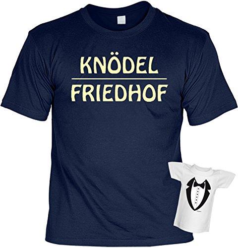T-Shirt - Knödel Friedhof - Geschenk Set Funshirt und Mini Shirt für Leute mit Humor