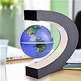 New 100-240V AC Magnetic Levitation Floating Globe Map Rotation Electronic LED US Plug Desktop