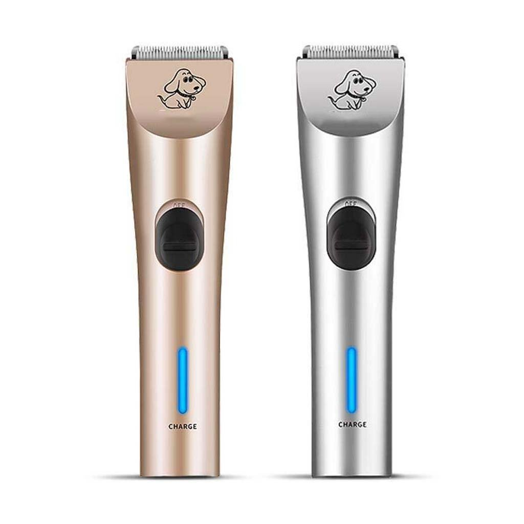 Dog Grooming Clippers ,Rechargeable Cordless Low Noise Cordless Dog Clipper Set ,Professional Pet Clippers Grooming 4 Comb Guides for Large Dogs Cats 2000mAh (110V 240V) gold