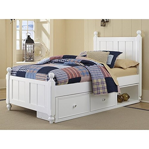 - Hillsdale Kids and Teen Lake House Kennedy Twin Bed with Storage in White