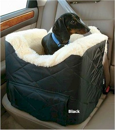 Snoozer Lookout II Dog Car Seat - Small/Black Quilt