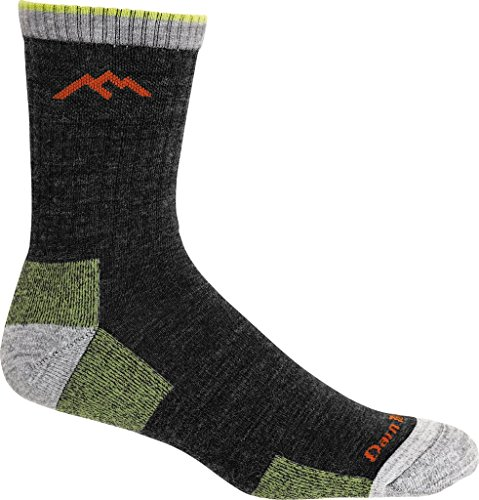 Darn Tough Men's Merino Wool Hiker Micro Crew Cushion Sock (Style 1466) - 6 Pack (Lime, Medium) by Darn Tough