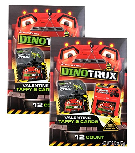 Dinotrux Valentine Cards For School Classroom Kit With Taffy