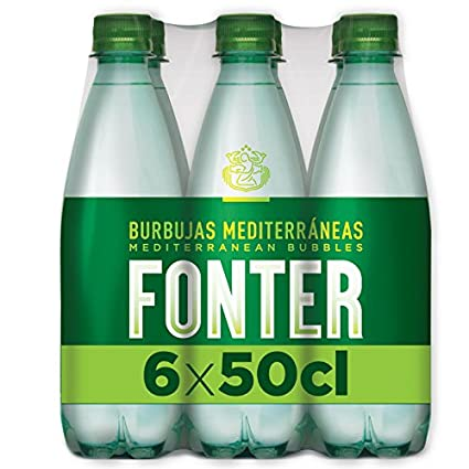 Fonter Agua Mineraml con Gas - Pack de 6 Botellas x 0.5 ml - Total: