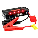 Automobile Best Deals - RDT 68000mAh 600A Peak Car Jump Starter Portable Power Bank External Battery Charger Emergency Auto Jump Starter Laptop Smart Phone USB Device with 4 USB Charging Port and Built-in LED Flashlight
