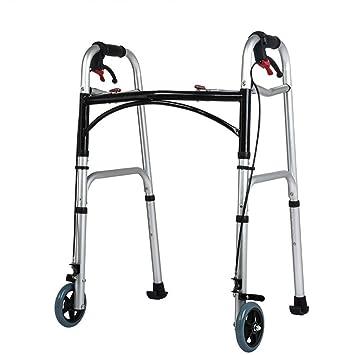 XIHAA Ancianos, Caminantes Estándar Andador Plegable, Aleación De Aluminio con Polea De Freno,