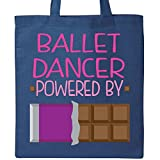 Inktastic - Ballet Dancer Fueled by Chocolate Tote Bag Royal Blue 1e3c5