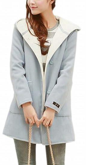 b68aaf1b564 CBTLVSN Womens Classic Pocket Hoodies Button Thicken Woolen Coat 1 XXS