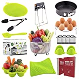 Instant Pot Accessories by Greater Kitchen - 15 Pieces Instant Pot Accessories Set Fits Instant Pot 5,6,8Qt - Springform Pan, Steamer Basket, Egg Rack, Egg Bites Mold, Oven Mitts, Cooking Tongs, Brush