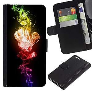 APlus Cases // Apple Iphone 6 PLUS 5.5 // Llama Rojo Verde Explosivo Negro vibrante // Cuero PU Delgado caso Billetera cubierta Shell Armor Funda Case Cover Wallet Credit Card