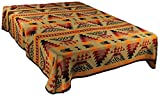 Splendid Exchange Southwestern Bedding Trail Blazer Collection, Mix and Match, Queen/Full Size Reversible Bedspread, Shimmering Stone Tan and Red