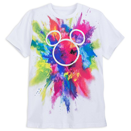 Disney Mickey Mouse Icon Rainbow T-Shirt for Adults Size Unisex M White …456207329985