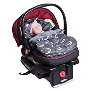 Infant Baby Newborn Footmuff Bunting Bag Sleep Sack for Carriers, Strollers, Joggers and Buggies   Soft Interior Fleece   Water Resistant   Universal Fit   0-10 Months   Adorable Bear Design!