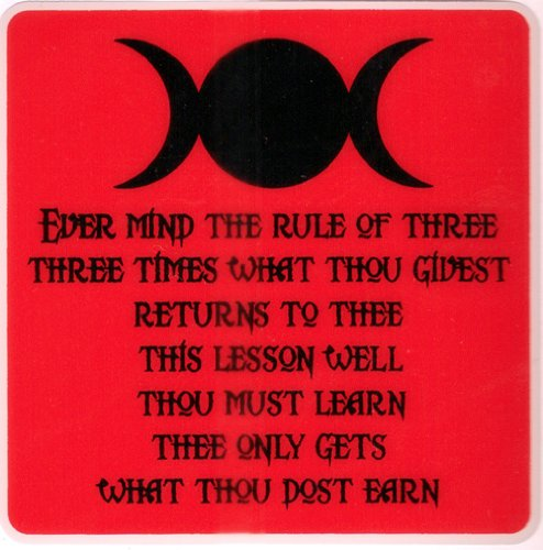 Ever Mind The Rule of Three.... - Car Sticker - PWD34: Amazon.co.uk: Garden  & Outdoors