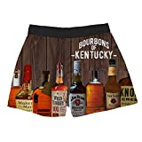 Brief Insanity Bourbons of Kentucky Silky Funny Boxer Shorts Gifts for Men