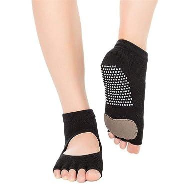 KANKOO Calcetines de yoga sin dedos Calcetines de yoga ...