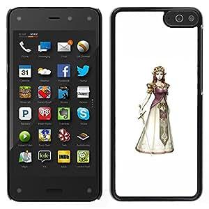 Caucho caso de Shell duro de la cubierta de accesorios de protección BY RAYDREAMMM - Amazon Fire Phone - Princesa Reina