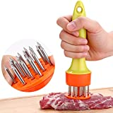 WAAO Stainless Steel Meat Needle Tenderizer Loose Meat Needle for Poultry, Steak, Fish, Pork