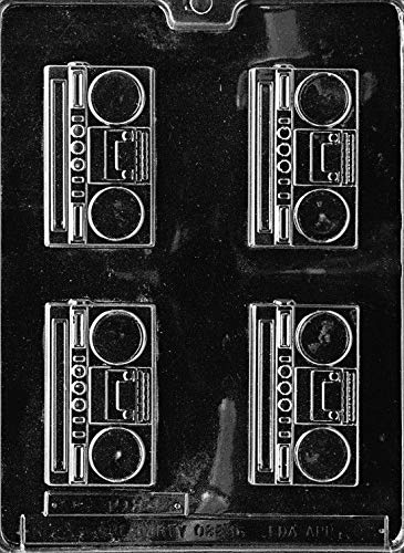 RADIO BOOM BOX PIECES mold candy chocolate soap molds 80's 90's party favors]()