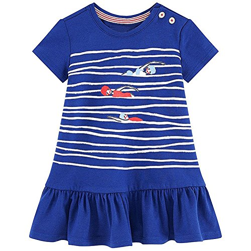 Joker Costume Venice (Huaqiang fashion Girls Summer Dress NEW Brand Princess Dress Children Costume Striped Animal Print Kids Clothes Birthday Dress 28 4T)