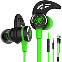 Wired E-Sport Earphone Noise Cancelling Stereo Bass Gaming Headphone With Mic , KEKU 3.5mm Hifi Earbuds with Extension Cable and PC Adapter for PC, Laptop and Cellphones (green)