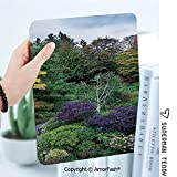 Case for Galaxy Tab A 8.0 Inch SM-T380 T385 2017 Anti Slip Kids Friendly Country Home Decor Famous Masterpiece of Park Architecture Butchart Gardens Colorful Flowers Leaves Print