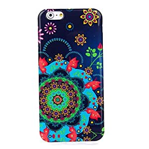 DD Flowers Pattern Silicone Soft Cover for iPhone 6 Plus