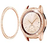 Goton Jewelry Bezel Ring Compatible Samsung Galaxy Watch 42mm Bezel, Gear Sport, Crystal Bling Diamond Women Men Watch Bezel Cover Protector (42mm, Rose Gold)