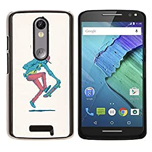 /Skull Market/ - Hipster Skater - Pop Art For Motorola Moto X 3rd / Moto X Style - Mano cubierta de la caja pintada de encargo de lujo -